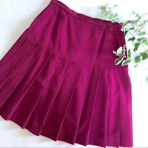 Jones New York Vtg Pleated Skirt 14 Wool Purple
